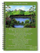 Twin Ponds And 23 Psalm On Green Spiral Notebook