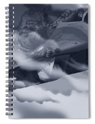Two-tailed Tomcat Spiral Notebook