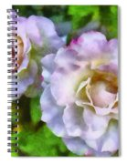 Two White Roses Spiral Notebook