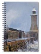 Tynemouth Pier Spiral Notebook