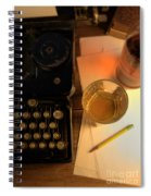 Typewriter And Whiskey Spiral Notebook