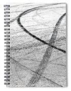 Tyre Tracks Spiral Notebook