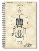 Vacuum Tube Patent 1942 - Vintage Spiral Notebook