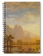 Valley Of The Yosemite Spiral Notebook