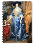 Van Dyck's Queen Henrietta Maria With Sir Jeffrey Hudson Spiral Notebook