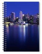Vancouver Skyline At Night, British Spiral Notebook