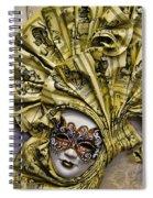 Venetian Carnaval Mask Spiral Notebook