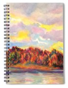 View Of Goat Island From Clackamette Park Spiral Notebook