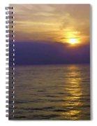 View Of Sunset Through Clouds Spiral Notebook