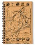 Vintage Train Ad 1887 Spiral Notebook