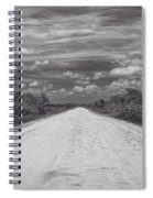 Wagon Wheel Road Bw Spiral Notebook