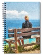Sitting Alone Spiral Notebook