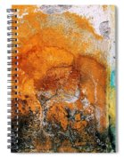 Wall Abstract 40 Spiral Notebook