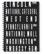 Washington City Subway Sign Spiral Notebook