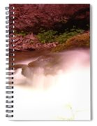 Water Over Rock  Spiral Notebook