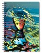 Water Splash Having A Bad Hair Day Spiral Notebook