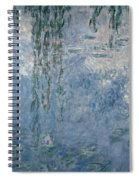 Waterlilies Morning With Weeping Willows Spiral Notebook