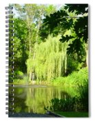 Weeping Willow Pond Spiral Notebook