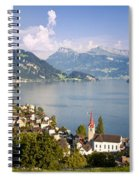 Weggis Switzerland Spiral Notebook