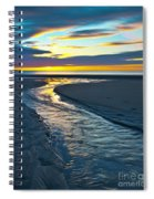 Wells Beach Maine Sunrise Spiral Notebook