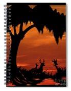 Wetland Wildlife - Sunset Sky Spiral Notebook