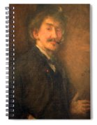 Whistler's Brown And Gold Self Portrait Spiral Notebook