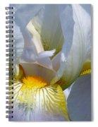 White And Yellow Iris 2 Spiral Notebook