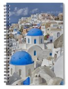 White Buildings With Steep Slope Spiral Notebook