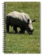 White Rhinoceros Calf  Spiral Notebook