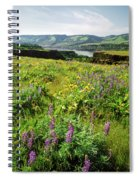 Wildflowers In A Field, Columbia River Spiral Notebook
