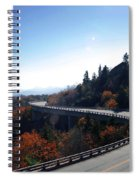 Winding Curve At Blue Ridge Parkway Spiral Notebook