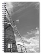 Windmill In The Sky In Black And White Spiral Notebook