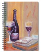 Wine And Blue Cheese Spiral Notebook