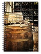 Wine  Glasses And Barrels Spiral Notebook