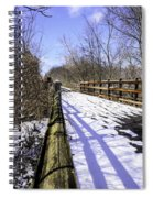 Winter On Macomb Orchard Trail Spiral Notebook