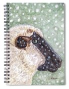Wishing Ewe A White Christmas Spiral Notebook