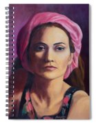 Woman In A Pink Turban Spiral Notebook