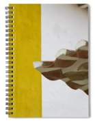 Yellow And Green Lines To The Roofs Spiral Notebook