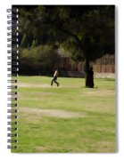 Young Boys Playing Cricket In A Park Near Delhi Zoo Spiral Notebook