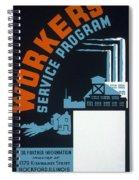 New Deal Wpa Poster Spiral Notebook