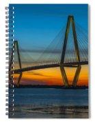Arthur Ravenel Jr. Bridge At Sunset Spiral Notebook