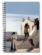 The Shoot On Santorini In Greece Spiral Notebook