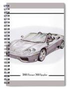 Ferrari 360 Modena Spyder Spiral Notebook