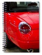 2002 Red Ford Thunderbird-rear Left Spiral Notebook