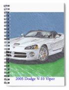 2005 Dodge V-10 Viper Spiral Notebook