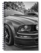 2005 Ford Mustang Convertible Bw  Spiral Notebook