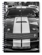 2007 Ford Mustang Shelby Gt500 Painted Bw  Spiral Notebook