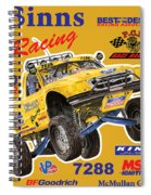 2008 Ford F-150 Racing Poster Spiral Notebook