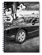 2010 Plymouth Superbird Bw Spiral Notebook