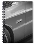2011 Dodge Challenger Srt8 Hemi Bw  Spiral Notebook